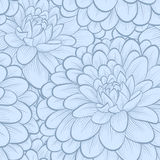 Beautiful background. blue flowers. Hand-drawn contour lines and strokes. Royalty Free Stock Photography