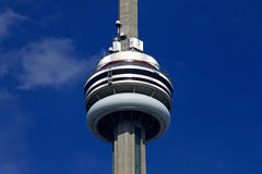 Beautiful background with the blue sky and CN Tower Royalty Free Stock Image