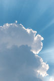 Beautiful background bright sun shines through clouds Royalty Free Stock Photo
