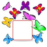 Beautiful background with butterflies Royalty Free Stock Images