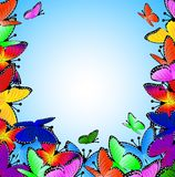 Beautiful background with butterflies Royalty Free Stock Photos