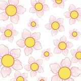 Beautiful background with cherry blossom pattern Royalty Free Stock Photography
