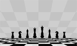 Beautiful background with chess. Abstract illustration of a chessboard. Vector Royalty Free Stock Image