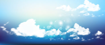 Beautiful background with clouds. Vector illustration  gradient mesh. Royalty Free Stock Photos