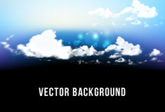 Beautiful background with clouds. Vector illustration  gradient mesh. Beautiful background with clouds. Vector illustration with gradient mesh Stock Photography