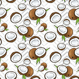 Beautiful background of coconuts. Vector illustration. Tropical fruits. Summer. Royalty Free Stock Photos