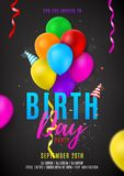 Flyer template for Birthday party Stock Photography