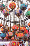 Beautiful background with colorful lamps arabic style of decorat Royalty Free Stock Photo