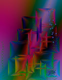 Beautiful background with colorful squares. Vector Royalty Free Stock Photos