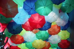 Background of colorful umbrellas Stock Photography
