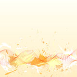Beautiful background with coloured waves and grung. E blobs Royalty Free Stock Photography