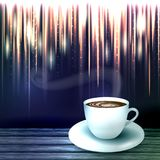 Beautiful background with a cup of coffee Royalty Free Stock Photos