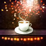 Beautiful background with a cup of coffee Stock Image