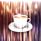 Beautiful background with a cup of coffee Royalty Free Stock Photography