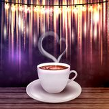 Beautiful background with a cup of coffee Stock Photography