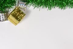 Beautiful decorative indoor with Christmas ornamentation. Beautiful background decorative indoor with colorful Christmas ornamentation, with bright royalty free stock photos