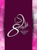 Beautiful background design for International Women's Day. Stock Photo