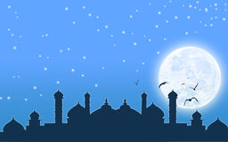 Beautiful background design for Islamic festival and mosque Royalty Free Stock Photos