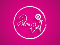 Beautiful background design for Women's day. Stock Photography