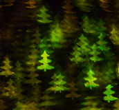 Beautiful background with different colored christmas tree , abs. Tract background, christmas tree  shapes on black background, blurry Stock Photography