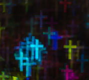 Beautiful background with different colored cross, abstract back Royalty Free Stock Image