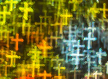 Beautiful background with different colored cross, abstract back Stock Images