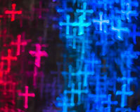Beautiful background with different colored cross, abstract back Stock Image