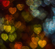 Beautiful background with different colored heart , abstract bac Royalty Free Stock Photos