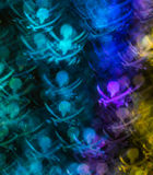 Beautiful background with different colored skull and swords, ab Royalty Free Stock Image