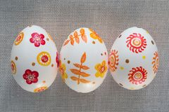 Easter eggs hand painted. Beautiful background of Easter eggs hand painted Royalty Free Stock Photos