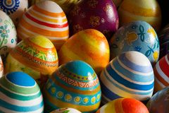 Easter eggs hand painted Royalty Free Stock Photography