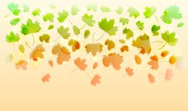 Beautiful background with falling autumn leaves. Abstract beautiful pattern Royalty Free Illustration