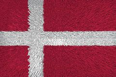 Beautiful background with flag Denmark close-up stock illustration