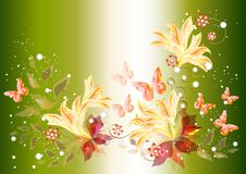 Beautiful background with flowers Stock Photos
