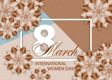 Beautiful background with flowers for International women`s day on March 8. Vector. Illustration stock illustration