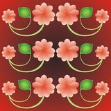 Beautiful background with flowers. And leaves stock illustration