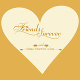 Beautiful background for friends forever card  Royalty Free Stock Images