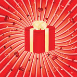 Beautiful background with a gift box. Vector illustration Stock Photos