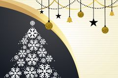 Christmas beautiful greeting card gold color royalty free illustration