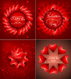 Beautiful background for happy valentine's day heart Royalty Free Stock Photos