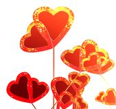 Beautiful background of hearts cut Stock Image