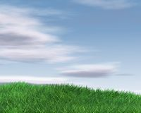 Beautiful background illustration with sky and grass Stock Images