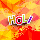 Beautiful background of indian colorful holi Stock Photo