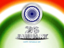 Beautiful background for indian republic day. Royalty Free Stock Image
