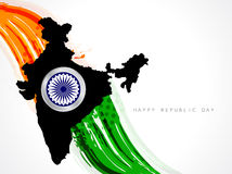 Beautiful background for indian republic day. Royalty Free Stock Photo
