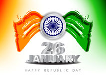 Beautiful background for indian republic day. Stock Photos