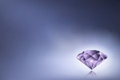 Purple diamond Stock Image