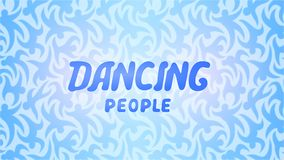 Beautiful background with lettering dancing people Royalty Free Stock Photography