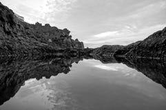 Beautiful lake in Los Abrigos, Canary Islands Stock Photos