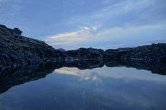 Beautiful lake in Los Abrigos, Canary Islands Stock Photo